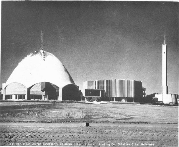 First Christian Church Sanctuary, Oklahoma City OK, roofed in 1957 with Thermo roofing compound.