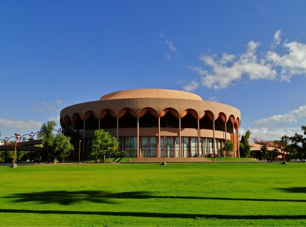 Designed by Frank Lloyd Wright, the Gammage Auditorium on the campus of Arizona State University has a Thermo Materials® Thermolastic® Cold Process Roofing System (TRS).